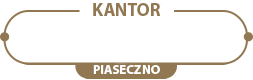 Kantor Piaseczno – Kantor Wymiany Walut na Jana Pawła 9/2 Logo